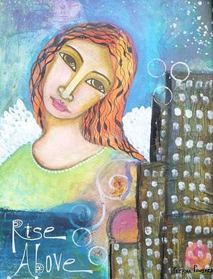 Rise Above Because You Are An Angel Art Print
