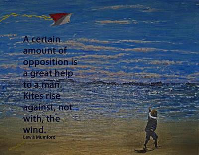 Rise Against The Wind Art Print by Ian  MacDonald