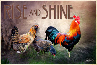 Barnyard Digital Art - Rise And Shine by Jacque The Muse Photography