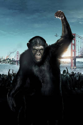 Ape Digital Art - Rise Of Planet Of The Apes 2011  by Fine Artist