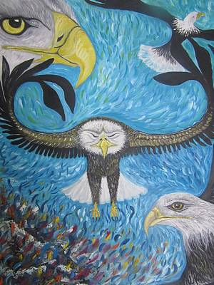 Holy Spirit Painting - Rise On Eagles Wings by Rachael Pragnell