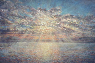 Sun Rays Painting - Rise Up by Jimmy Leach