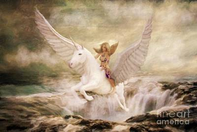 Unicorn Art Painting - Risen By Sarah Kirk by Sarah Kirk