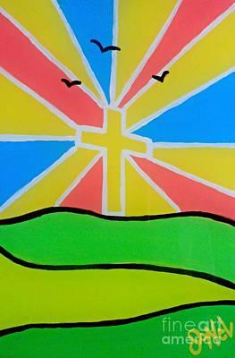 Sun Rays Mixed Media - Risen by JoNeL Art