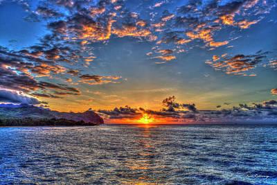 Photograph - Risen Mahaulepu Beach Sunrise South Shore Kauai Hawaii Art by Reid Callaway