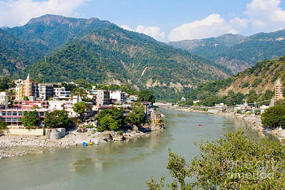 Photograph - Rishikesh Laxman Jhoola River Ganga Ganges Is Life Line Of The People Of India And Its Spiritual Gra by Navin Joshi