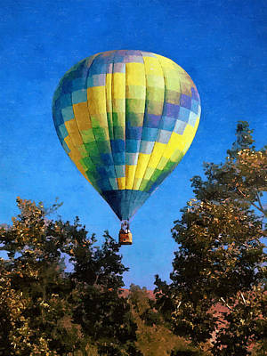 Photograph - Rising Above - Hot Air Balloon by Glenn McCarthy Art and Photography