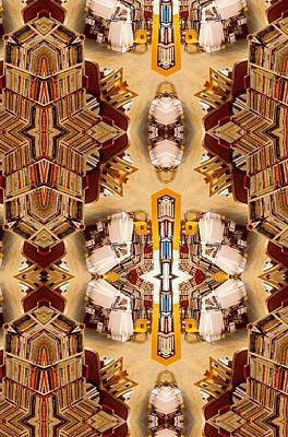 Digital Art - Rising Diagonal Rectangle Mirror by Sheila Mcdonald
