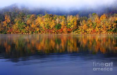 Rising Fog Fall Color Art Print by Thomas R Fletcher