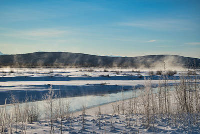Photograph - Rising Fog - Tanana River by Cathy Mahnke