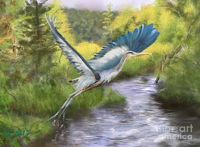 Painting - Rising Free by Susan Sarabasha