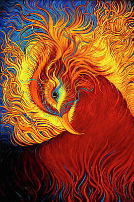 Painting - Phoenix Rising by Karen Balon