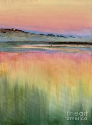 Painting - Rising Mist- Santa Ynez Estuary by Betsee Talavera