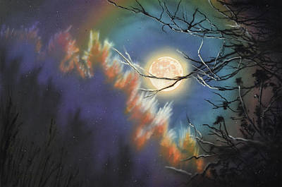 Painting - Rising Moon by Lynn Hansen