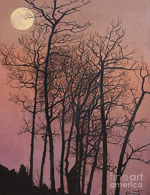 Painting - Rising Of The Moon  by Barbara Barber