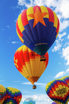 Photograph - Rising Star Balloons by Steven Bateson
