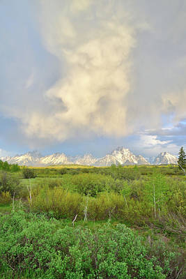 Photograph - Rising Storm Clouds Over Mt. Moran In Grand Teton National Park by Ray Mathis