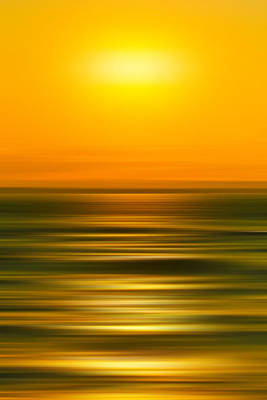 Fluid Photograph - Rising Sun by Az Jackson