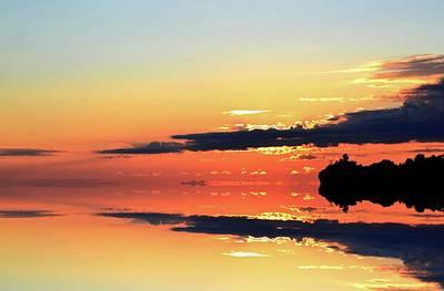Digital Art - Rising Sun Behind A Cloud Two  by Lyle Crump