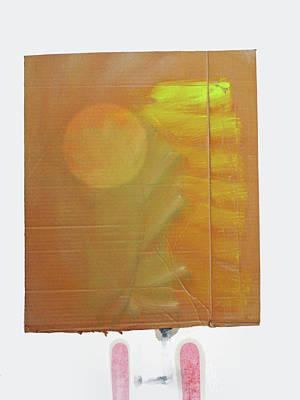 Cardboard Mixed Media - Rising Sun by Charles Stuart