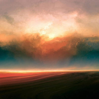 Landscapes Mixed Media - Rising Sun by Lonnie Christopher