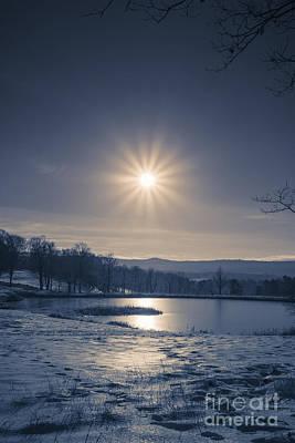Rising Sun On A Cold Winter Morning Art Print