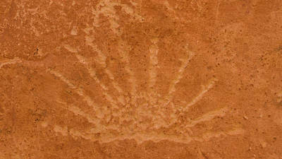 Photograph - Rising Sun Petroglyph Capitol Reef National Park Utah by Lawrence S Richardson Jr