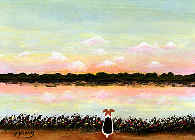 Wire Fox Terrier Painting - Rising Sun by Todd Young