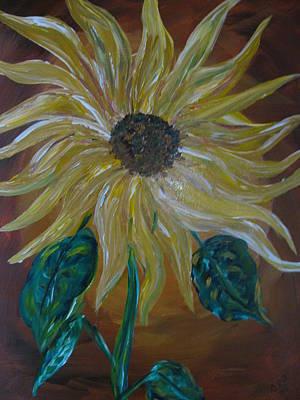 Rising Sunflower Art Print by Dennis Poyant