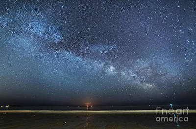 Photograph - Rising Tide Rising Moon Rising Milky Way by Patrick Fennell