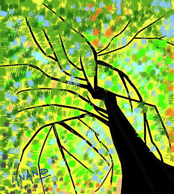 Digital Art - Rising To The Sky by Anand Swaroop Manchiraju