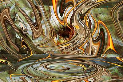 Digital Art - Rising Up by rd Erickson