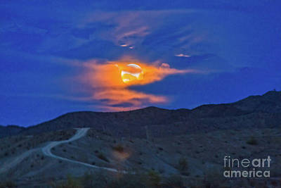 Photograph - Rising Wolf Moon by Robert Bales