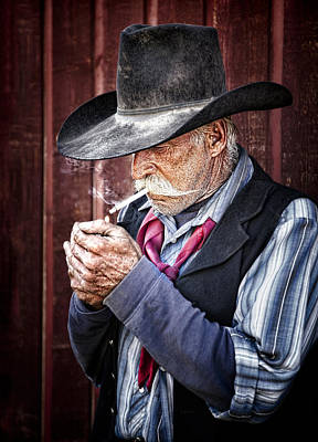 Cowhand Photograph - Risky Business by Janet Fikar
