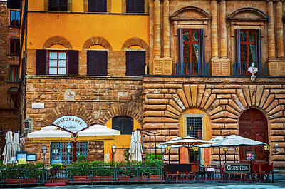 Digital Art - Ristorante Cavallino by Mick Burkey