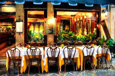 Empty Chairs Photograph - Ristorante In Venice # 2 by Mel Steinhauer