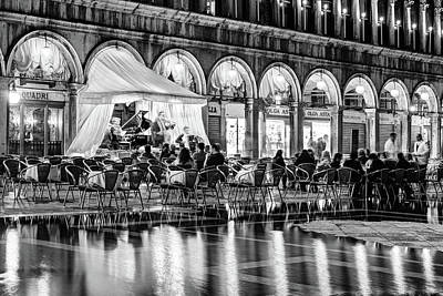 Quadri Photograph - Ristorante Quadri On Piazza San Marco - Venice by Barry O Carroll