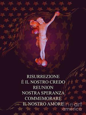 Christina Digital Art - Inri M1 Risurrezione  / Resurrection by Johannes Murat