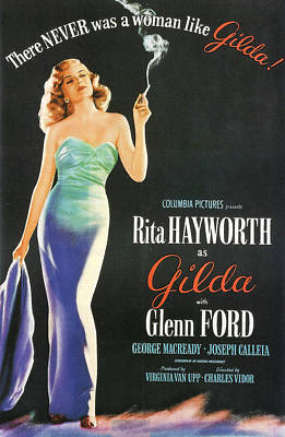 Rita Hayworth As Gilda Art Print by Georgia Fowler