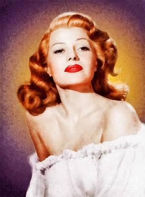 Rita Hayworth By John Springfield Art Print