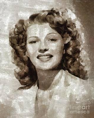 Rita Hayworth By Mary Bassett Art Print