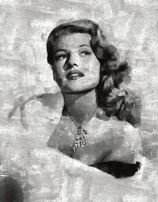 Celebrities Royalty-Free and Rights-Managed Images - Rita Hayworth by Esoterica Art Agency