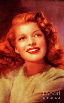 Rita Painting - Rita Hayworth, Vintage Actress By Mary Bassett by Mary Bassett