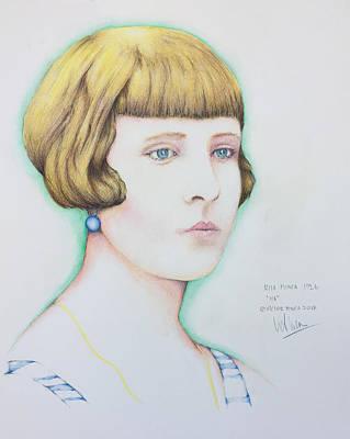 Painting - Rita Minca 1926.  by Victor Minca