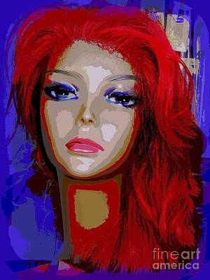 Mixed Media - Rita's Red Mane by Ed Weidman