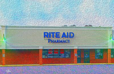Drug Stores Painting - Rite Aid Pond St Ashland Ma by Cliff Wilson
