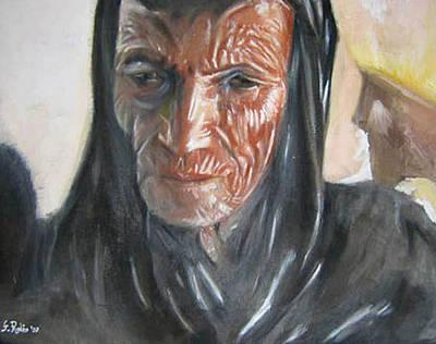 Donna Africana Painting - Ritratto Di Donna Africana Di 45 Anni by Fabio Rodio