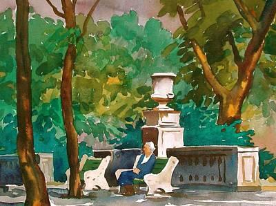 Rittenhouse Square Art Print by Faye Ziegler