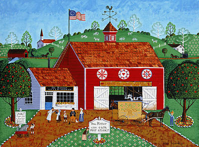 Americana Licensing Painting - Ritter's Critters by Joseph Holodook