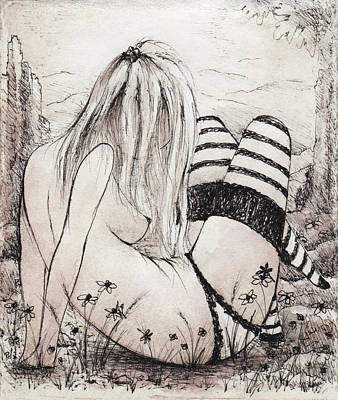 Drawing - Rituals by Rachel Christine Nowicki